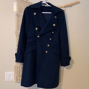 GUESS BY MARCIANO navy wool peacoat